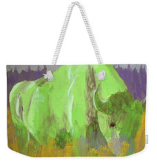 Bison On The American Plains Weekender Tote Bag by Donald J Ryker III
