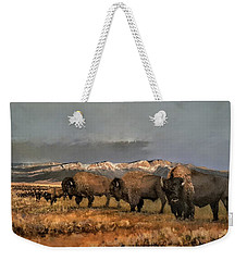Bisons Of The Front Range Weekender Tote Bag