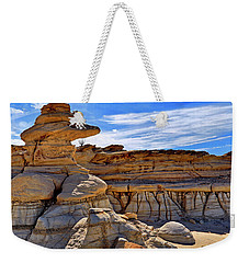 Weekender Tote Bag featuring the photograph Bisti Badlands Formations - New Mexico - Landscape by Jason Politte