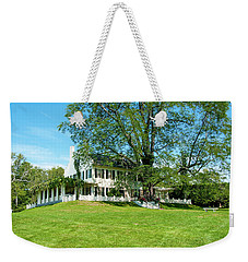 Weekender Tote Bag featuring the photograph Bit O Nh History by Greg Fortier