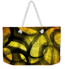 Weekender Tote Bag featuring the mixed media Biting Soul by Lucia Sirna