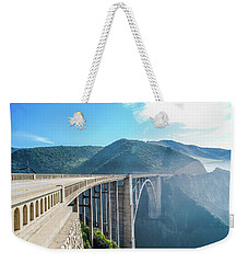 Weekender Tote Bag featuring the photograph Bixby Bridge,big Sur by Jingjits Photography