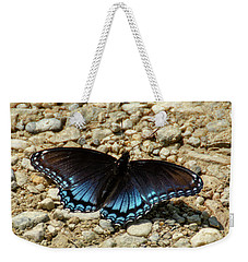 Black And Blue Monarch Butterfly Weekender Tote Bag