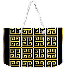 Black And Gold 11 Weekender Tote Bag