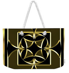 Black And Gold 13 - Chuck Staley Weekender Tote Bag by Chuck Staley