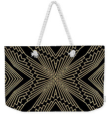 Black And Gold Art Deco Filigree 003 Weekender Tote Bag