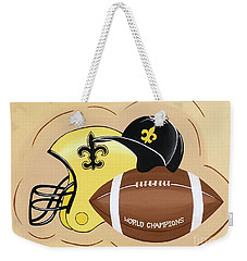 Black And Gold Champs Weekender Tote Bag