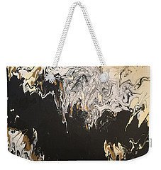 Black And Gold Weekender Tote Bag