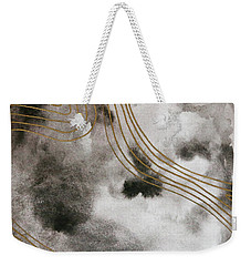 Black And Gold Watercolor Weekender Tote Bag