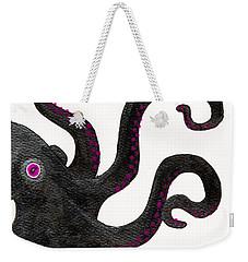 Black And Purple Octopus Weekender Tote Bag by Stefanie Forck