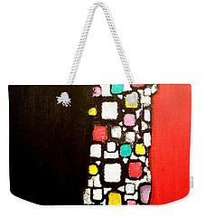 Black And Red Weekender Tote Bag