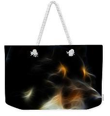 Black And Tan Shiba Inu Weekender Tote Bag by Stuart Turnbull
