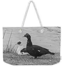 Black And White 10 Weekender Tote Bag
