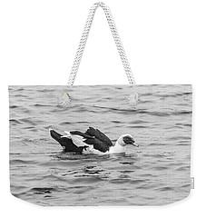 Black And White 12 Weekender Tote Bag
