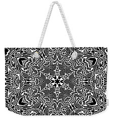 Black And  White 28 Weekender Tote Bag