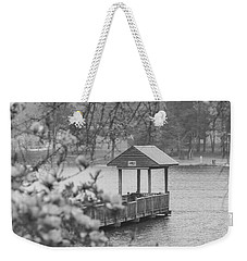 Black And White 9 Weekender Tote Bag