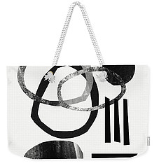 Black And White- Abstract Art Weekender Tote Bag by Linda Woods