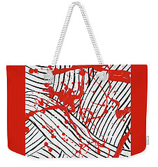 Black And White And Red All Over 1 Weekender Tote Bag
