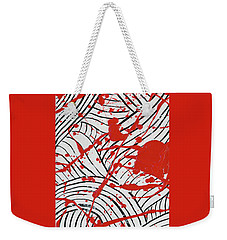 Black And White And Red All Over 3 Weekender Tote Bag