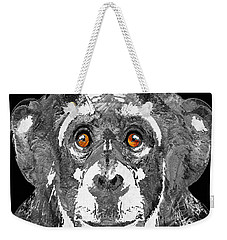 Black And White Art - Monkey Business 2 - By Sharon Cummings Weekender Tote Bag by Sharon Cummings