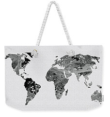 Black And White Art World Map Weekender Tote Bag