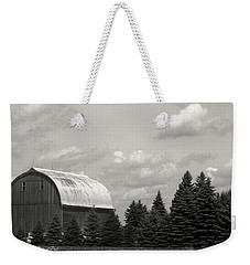 Black And White Barn Weekender Tote Bag