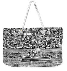 Black And White Boat Weekender Tote Bag by Jim Walls PhotoArtist