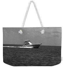 Black And White Boating Weekender Tote Bag