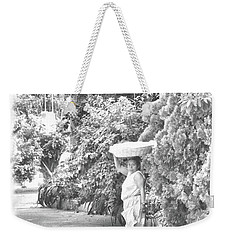 Black And White Bread Lady Weekender Tote Bag by Jim Walls PhotoArtist