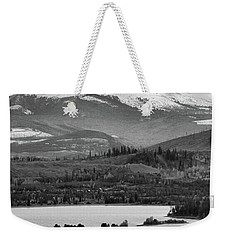 Weekender Tote Bag featuring the photograph Black And White Breckenridge by Dan Sproul
