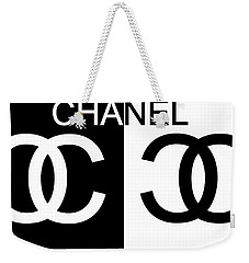 Black And White Chanel 2 Weekender Tote Bag
