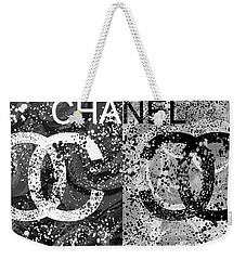 Black And White Chanel Art Weekender Tote Bag