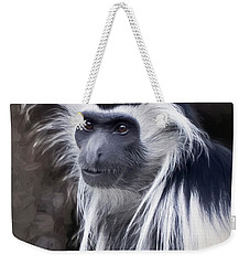 Black And White Colobus Monkey Weekender Tote Bag