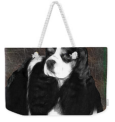 Weekender Tote Bag featuring the photograph Black And White Cookie by EricaMaxine  Price