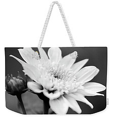 Weekender Tote Bag featuring the photograph Black And White Coreopsis Flower by Christina Rollo