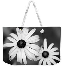 Weekender Tote Bag featuring the photograph Black And White Daisy by Christina Rollo