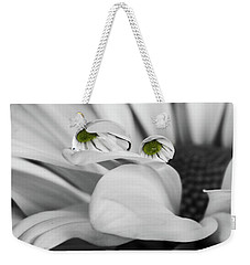 Black And White Daisy Water Weekender Tote Bag