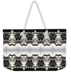 Black And White Design Weekender Tote Bag