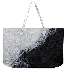 Black And White Fibers - Yin And Yang Weekender Tote Bag by Matthias Hauser