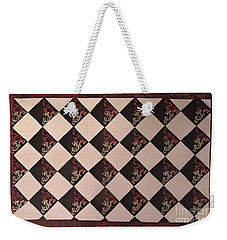 Black And White Checkered Floor Cloth Weekender Tote Bag