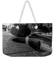 Black And White Fountain Weekender Tote Bag