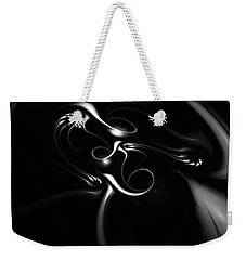 Black And White Fractal 080810b Weekender Tote Bag