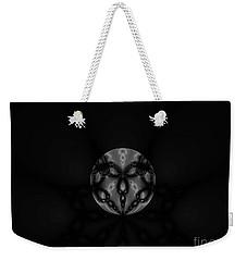 Black And White Globe Fractal Weekender Tote Bag