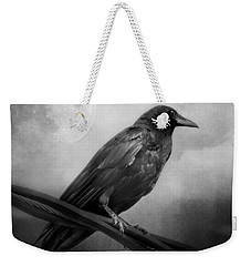 Black And White Gothic Crow Raven Art Weekender Tote Bag