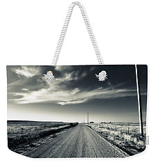 Black And White Gravel Weekender Tote Bag