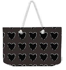 Black And White Hearts 1- Art By Linda Woods Weekender Tote Bag
