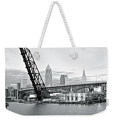 Weekender Tote Bag featuring the photograph Black And White In Daylight by Frozen in Time Fine Art Photography