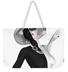 Pearled Weekender Tote Bag