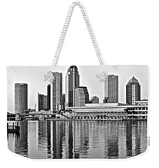 Black And White In The Heart Of Tampa Bay Weekender Tote Bag by Frozen in Time Fine Art Photography