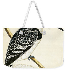 Black And White Kingfisher Weekender Tote Bag by English School